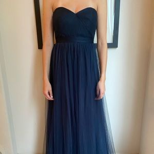 """Jenny Yoo Collection navy """"Annabelle"""" gown"""